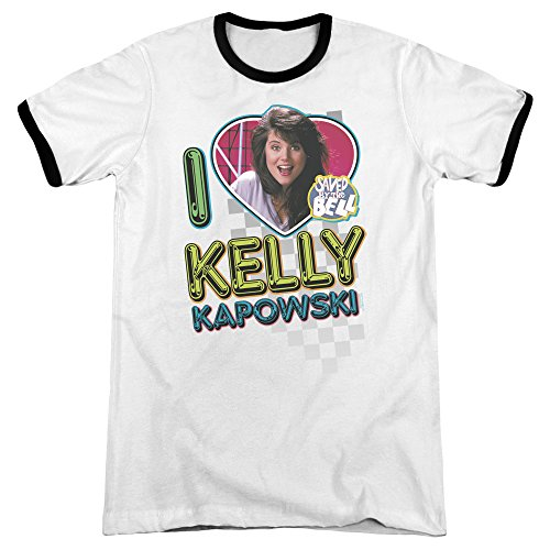 I Love Kelly Kapowski 80s Ringer T-shirt