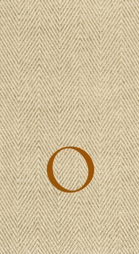 Entertaining with Caspari Jute Herringbone Paper Linen Guest - Monogram O Hand Towel