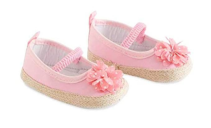 97c1ce691eb2a Amazon.com: Baby Girls Pink Shoes with Flower: Clothing