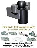 AMPLOCK U-BRP2 boat trailer, trailer and RV coupler lock fits specific 2 inches coupler