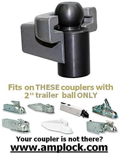 AMPLOCK U-BRP2 boat trailer, trailer and RV coupler lock fits specific 2 inches coupler by AMPLOCK