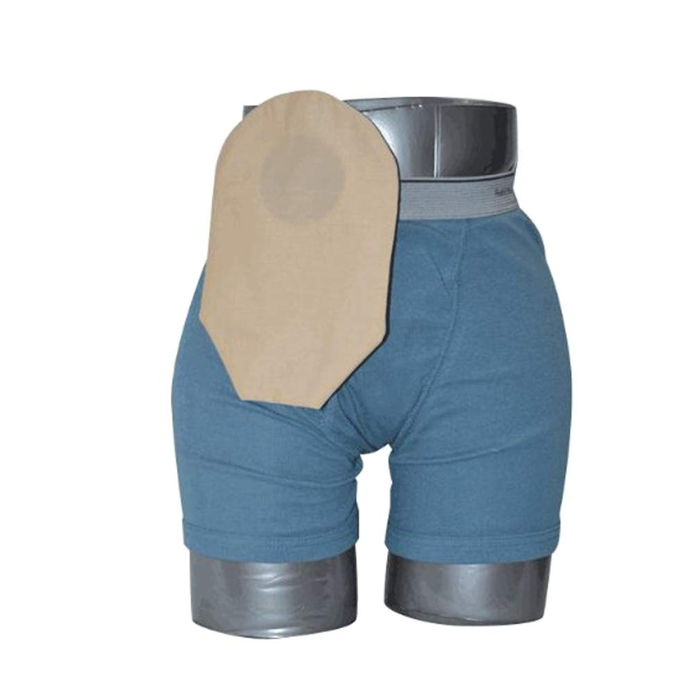 Daily Wear Pouch Cover, Closed End, Fits Flange Opening of 3/4'' to 2-1/4'', Overall Length 9'', Tan (Single [Each-1])