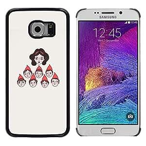 LECELL--Funda protectora / Cubierta / Piel For Samsung Galaxy S6 EDGE SM-G925 -- Character Seven Princess --