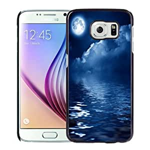 New Personalized Custom Designed For Samsung Galaxy S6 Phone Case For Blue Sea Night Phone Case Cover