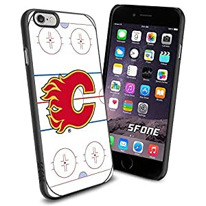 Calgary Flames Rink Ice #2099 Hockey iPhone 6 (4.7) Case Protection Scratch Proof Soft Case Cover Protector