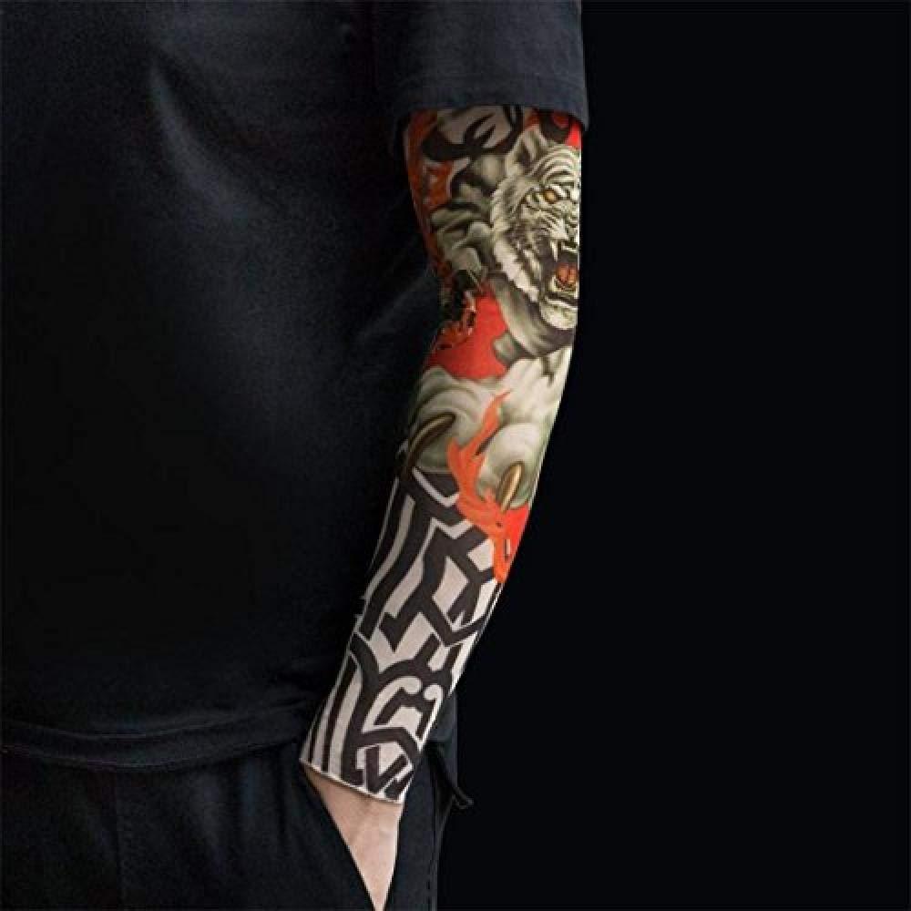 ELECTION Manches Tattoo Corps Bras Bas Tatoo Cool Anti Uv Mod/èle Protection Solaire Bras Couverture Sports Cyclisme Manchettes Pour Homme Et Femme(6Pcs Multicolore)