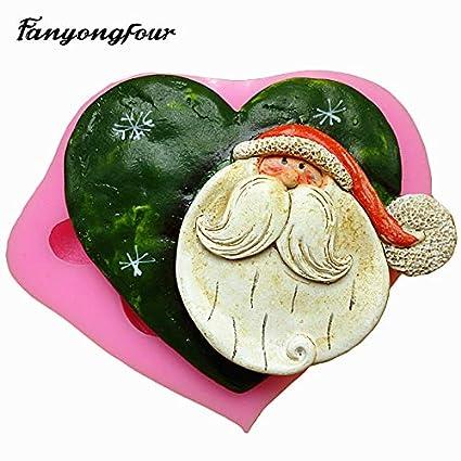 Amazon Com Zoomy Far Heart Shaped Santa Claus Cookies Mold Fondant
