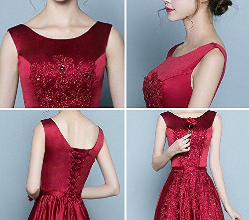 Red Vestito Donna Wine Stile Impero Drasawee 1qxXXp