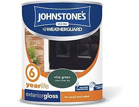 Johnstoneu0027s 309147 750ml Exterior Gloss Paint   Vine Green