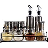 Douhuayu Kitchenware Seasoning Box Glass Seasoning Pot Seasoning Seasoning Oil Bottle Vinegar Pot Leakproof Salt Shaker Set (Color : Clear)