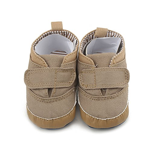 Zapato bebé Zapatos para bebé que aprende caminar Zapato de lona cómodo para bebé Suela antideslizante 0-18 meses Luerme