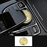 TopDall AMG Interior Media Multimedia Control Decals Emblems Stickers Accessories Gold for Mercedes Benz: more info