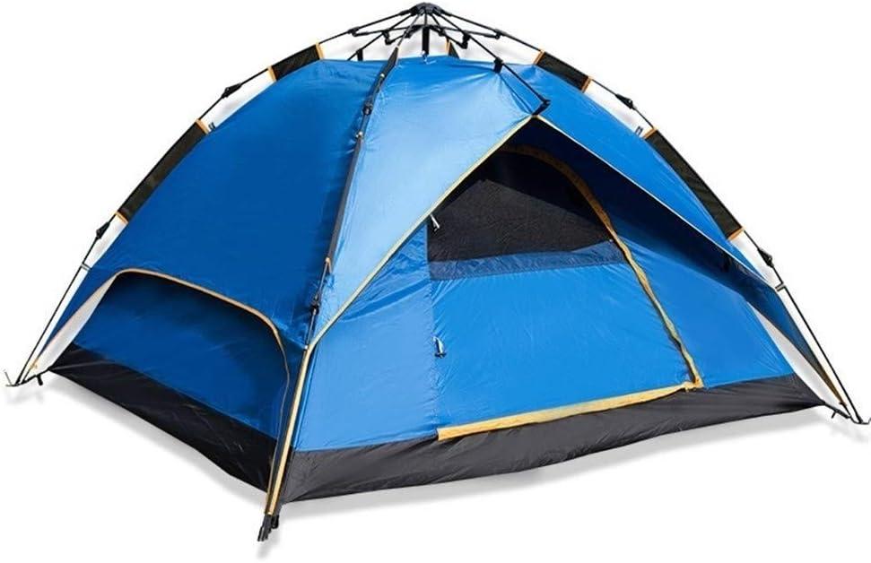 Outdoor Tent 3-4 persoons tent Volautomatische Quick Opening Regendicht Camping Trip Water-Resistant geventileerd en Duurzaam plm46 (Color : Orange) Navy blue