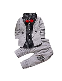 Verala Baby Boys Clothes Winter Gentleman Suit Bowtie Outfits