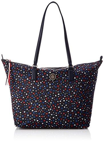 de Blau y hombro Print bolsos Tote Tommy T 14x32x47 B Hilfiger Poppy Shoppers Star x Mujer Print H cm Star RPzx8Yqw