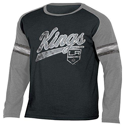 NHL Los Angeles Kings National Hockey League Long Sleeve Tee, Large, True Black Heather (Kings Nhl)