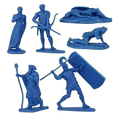 LOD Trojan WAR 12 Plastic Hero Figures - Helen of Troy Paris Achilles Odysseus: Toys & Games