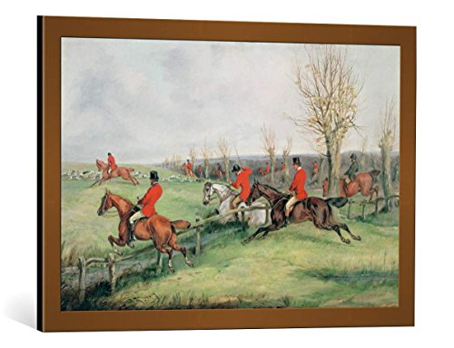kunst für alle Framed Art Print: Henry Thomas Alken Sporting Scene 19th Century - Decorative Fine Art Poster, Picture with Frame, 29.5x19.7 inch / 75x50 cm, Copper Brushed
