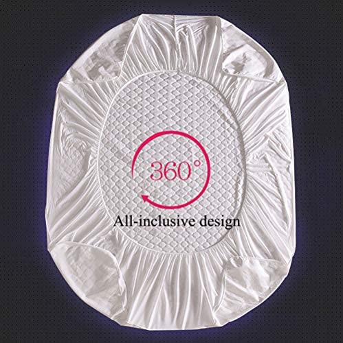 WANGCY Protège-Matelas 160x200, Housse De Matelas 180x200 Impermeable, avec Membrane Imperméable en TPU Et Bandage Élastique Doux Et Confortable Respirant Lavable en Machine