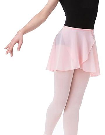4828cc0f4 Bezioner Falda de Abrigo la Danza de Ballet Gasa con Lazo de la Cintura para  Niña