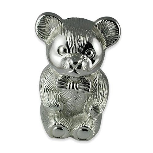 Silver Plated Teddy - Silver Plated Teddy Bear Money Box by Shop of Legends