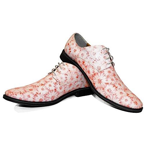 PeppeShoes Modello Coralia - Handgemachtes Italienisch Leder Herren Rosa Oxfords Abendschuhe Schnürhalbschuhe - Rindsleder Wildleder - Schnüren