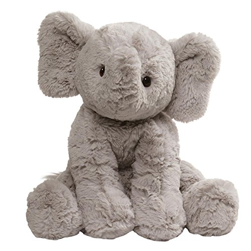 (GUND Cozys Collection Elephant Stuffed Animal Plush, Gray, 10