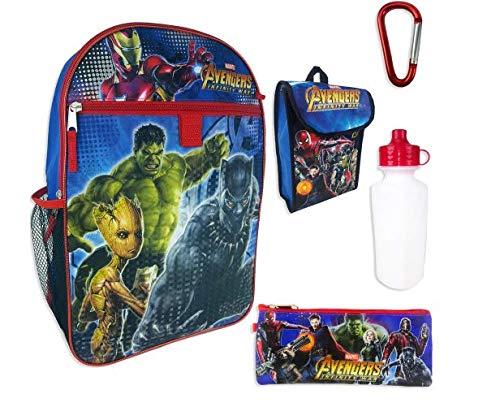 Marvel Avengers Infinity War Backpack 5-Piece Set