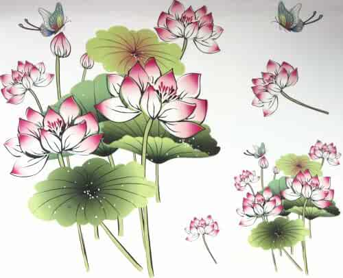 4f5a4b0d3 GGSELL GGSELL fashion latest design extra large tattoo for back Fresh lotus  with butterflies temporary tattoo