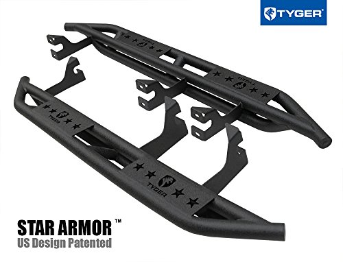 Tyger Auto TG-AM2T20068 Star Armor Kit (for 2007-2014 Toyota FJ Cruiser SUV | Textured Black | Side Step | Nerf Bars | Running Boards) (Toyota Fj Cruiser Aftermarket)