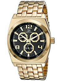 Joshua & Sons Men's JS93YGB Analog Display Quartz Gold Watch