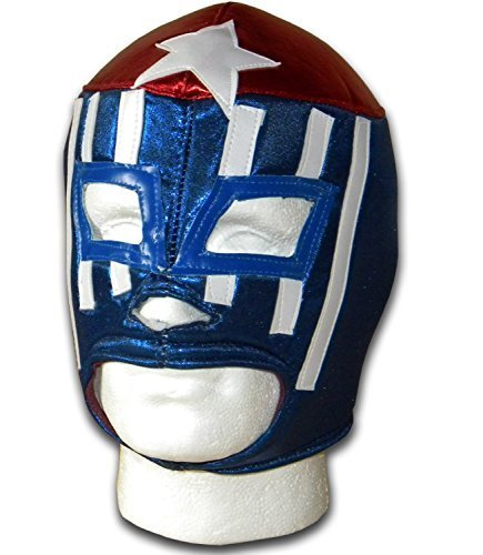 WRESTLING MASKS UK Men's Cubano Power - Tie Up - Mexican Made Wrestling Mask One Size Multicoloured by Wrestling