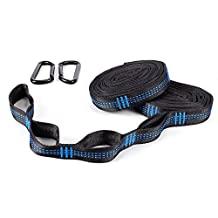 FYLINA Hammock Tree Straps 1600LBS Heavy Duty Hammock Straps With 2 Carabiners 36 Loops And 20 Feet Easy Setup Adjustable Portable Hanging Straps Fits All Hammocks
