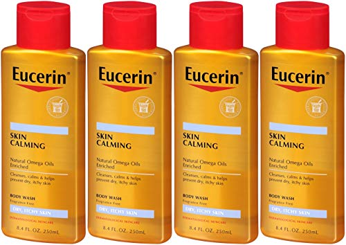 Eucerin Skin Calming Body Wash Daily Shower Oil-8.4, oz. (Pack of 4) by Eucerin