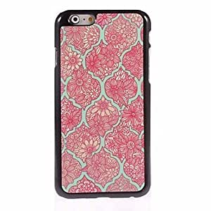 QJM Elegant Flower Design Aluminum Hard Case for iPhone 6