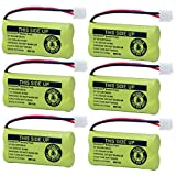 BAOBIAN 2.4V Rechargeable Cordless Phone Batteries Compatible with at&T/Lucent BT-18433 BT-184342 BT-28433 BT-284342 BT-6010 BT-8000 BT-8001 BT-8300 Empire CPH-515D CPH515D (6 Pack BT18433 Batteries)