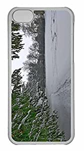 iPhone 5C Case, Personalized Custom Winter Im Schlosspark Paffendorf 4 for iPhone 5C PC Clear Case