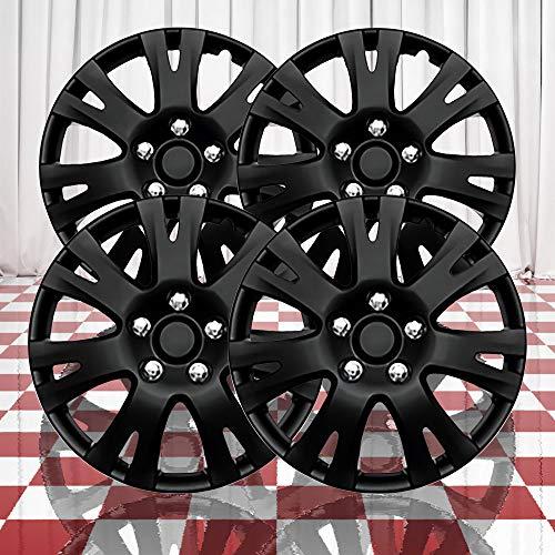 Brighter Design Set of 4 Gloss Black 7 Split Spoke 16