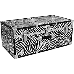 Seward Trunk Perfect Storage Trunk, Zebra Print, 30-inch (SWD6130-15)