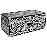 Seward Trunk Perfect Storage Trunk, Zebra Print, 30-inch (SWD6130-15)