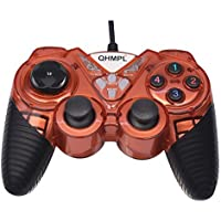 Quantum QHM-7487 2V Way Vibration USB Game-pad Controller with Turbo Function Random Color