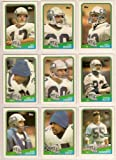 Seattle Seahawks 1988 Topps Football Team Set (Dave Krieg) (Curt Warner) (John L. Williams) (Steve Largent) (Norm Johnson) (Kenny Easley) (Brian Bosworth Rookie) (Blair Bush) (Jacob Green) (Joe Nash)