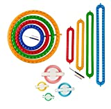 Wayion Long and Round Knitting Loom Set Craft Kit with Hook Needle,Gift Pompom Maker