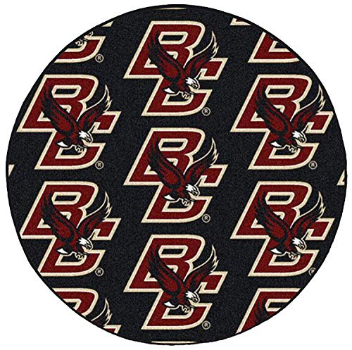Ambient Rugs NCAA My Team College Repeating Rug Boston College - 10' Round