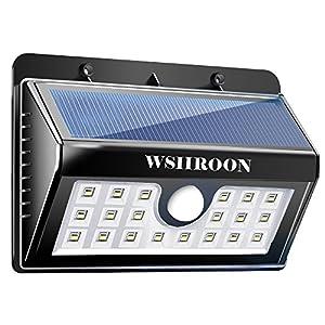 Solar Light Outdoor, Wsiiroon 20 Led Outdoor Motion Sensor Solar Energy Powered Super Bright Light 3 Lighting Modes Waterproof Security Wall Light for Patio, Deck, Yard, Garden