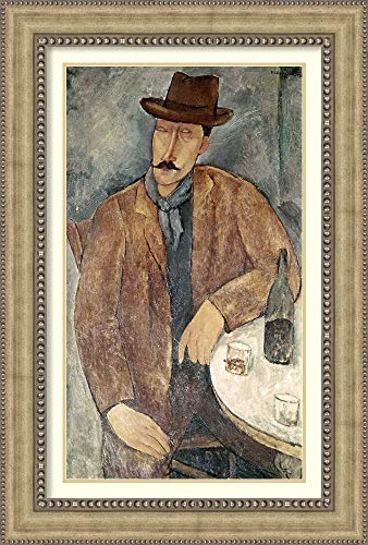 Framed Wall Art Print Man with a Wine Glass by Amedeo Modigliani 30.75 x 45.50