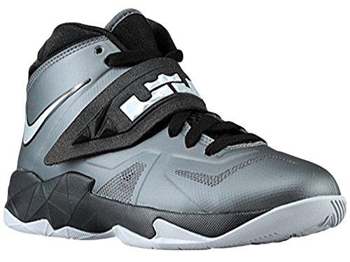 Boy's Nike Zoom Soldier 7 Basketball Shoes Dark Grey 599818-020 (7Y)