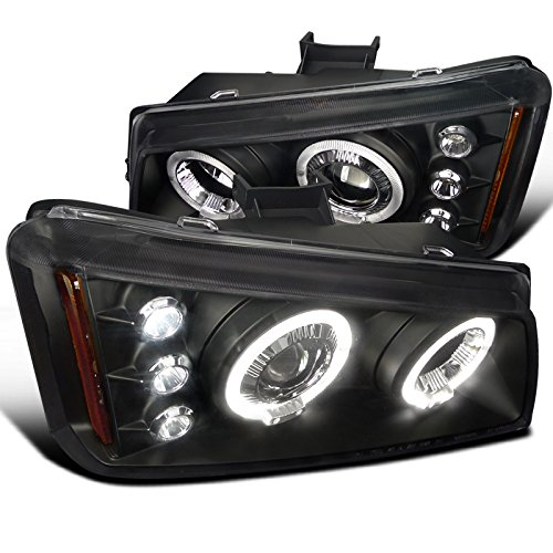 Spec-D Tuning 2LHP-SIV03JM-TM Chevy Silverado Avalanche Black Halo Led Projector Headlights (Silverado Chevy Diamond)