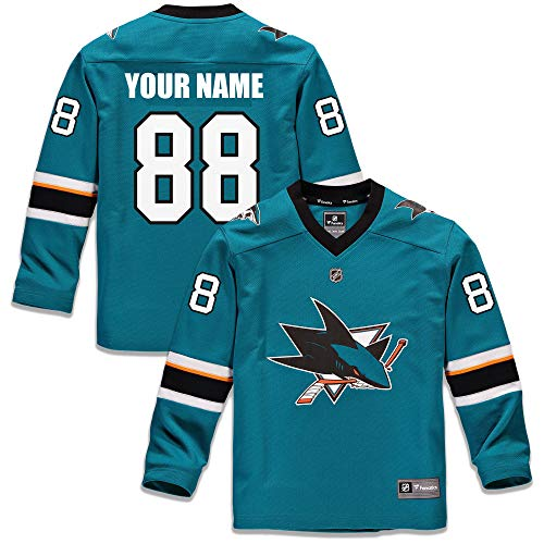 0962ebbd Custom San Jose Sharks Youth Replica Jersey - Teal, used for sale Delivered  anywhere in