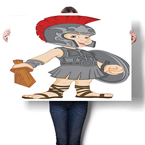 Canvas Print Wall Art boy Wearing Roman Soldier